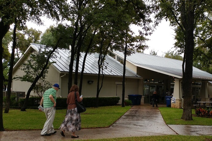 Voters head to Woodlawn Baptist Church in San Antonio to cast their ballots on Election Day