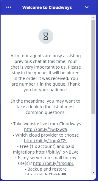 waiting chat
