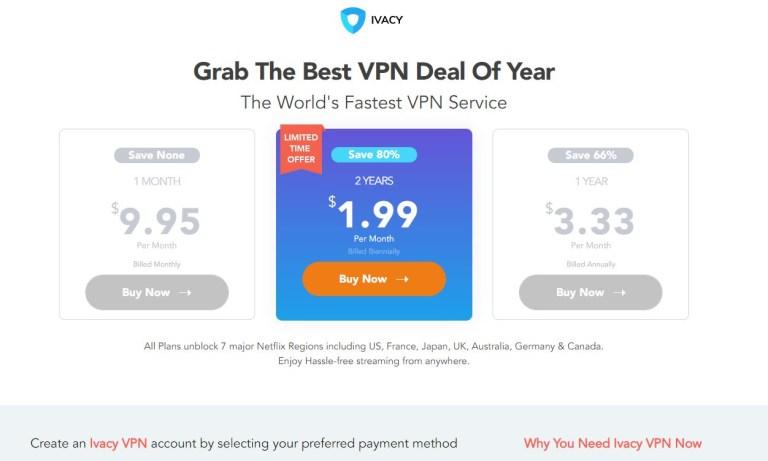 購買 IvacyVPN