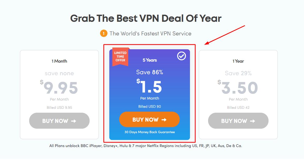Ivacy VPN 5 年方案優惠