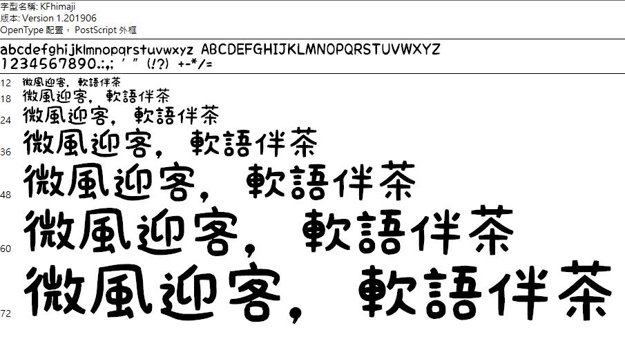 日系KF貼紙手寫字體