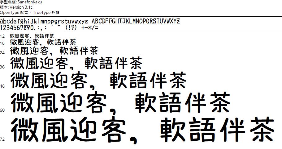SanafonKaku 手繪 POP 字體