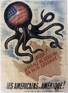 French anti-American poster - evil octopus