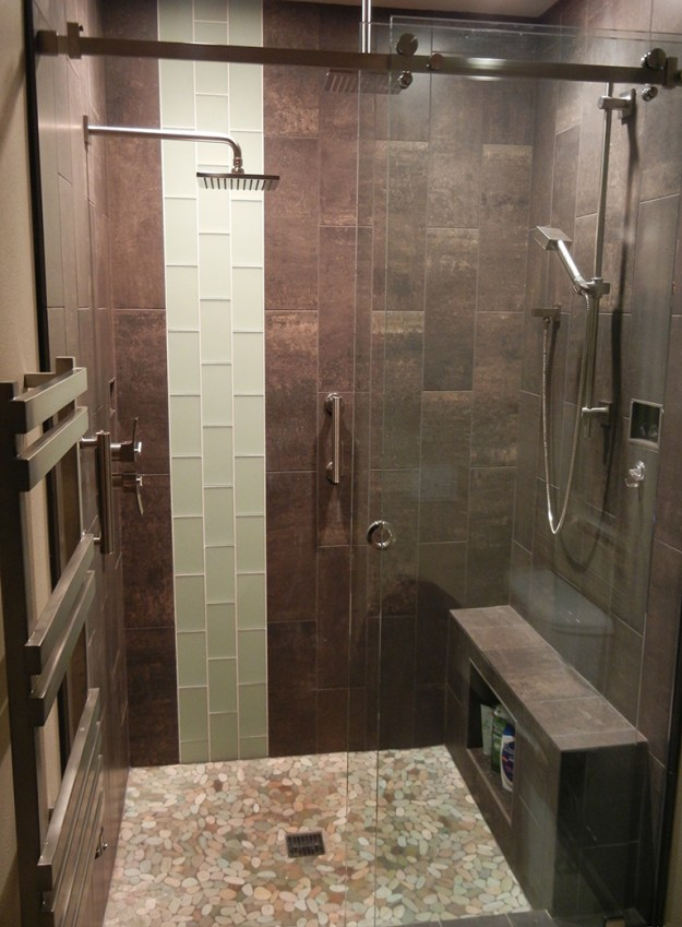 modern shower remodel. modern bathroom remodel portland oregon
