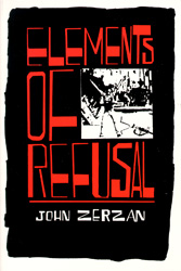Cover of _Elements of Refusal_, 1988