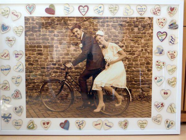 Gastebuch Bilderrahmen Hochzeit Wunschgravur Herzen Eur 59 95