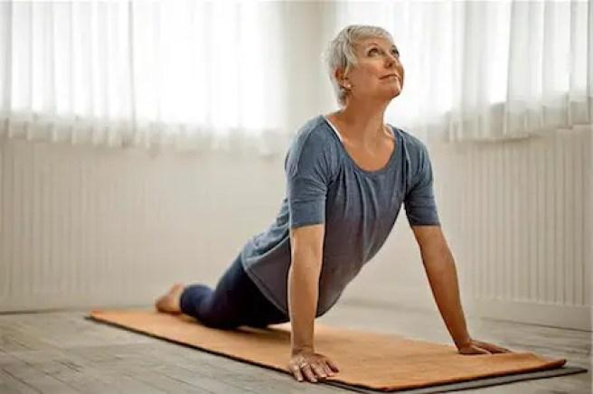 yoga woman restless legs