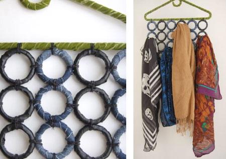 organizzare sciarpe e foulard
