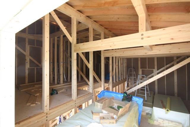 建て方二日目|スキップフロアの家WAVE[ウェーブ]|栃木県宇都宮市