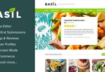 Basil Recipes v1.5.0 - A Recipe-Powered WordPress Theme