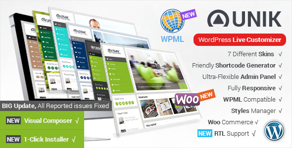 Unik - Ultra-Customizable WordPress Theme v1.8.5