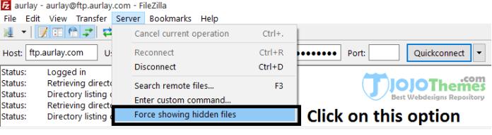 force showing hidden files