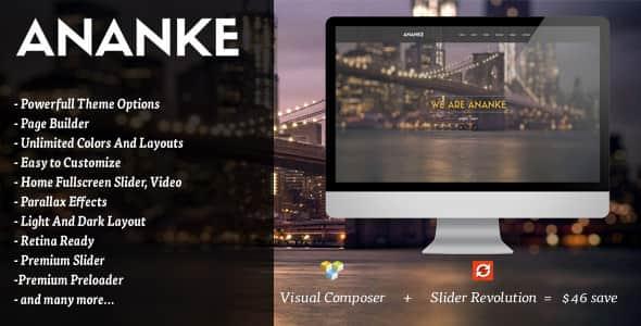 Ananke v3.6.8 - One Page Parallax WordPress Theme