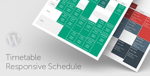 Timetable Responsive Schedule For WordPress v5.2