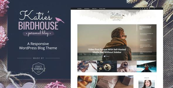 BirdHouse v1.0.4 - A Responsive WordPress Blog Theme