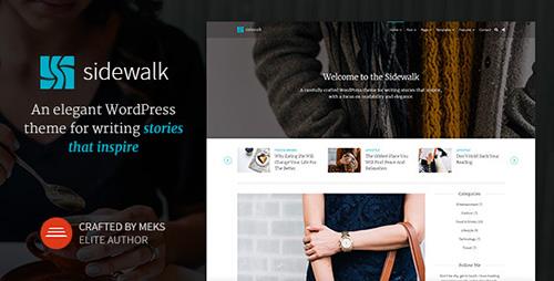 Sidewalk - Elegant Personal Blog WordPress Theme v1.3