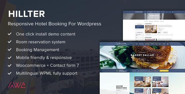 Hillter - Responsive Hotel Booking for WordPress v1.13.6