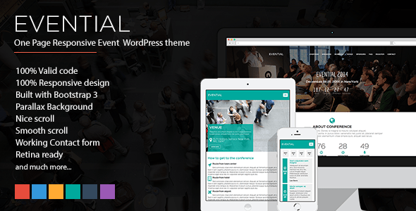 Evential v1.4.1 - One Page Responsive Event WordPress Theme