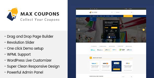 Max Coupons v1.1 - Couponry & Deals WordPress Theme