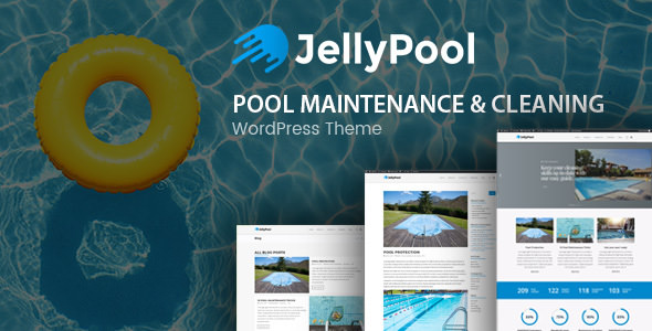 JellyPool v1.2 - Pool Maintenance & Cleaning Theme