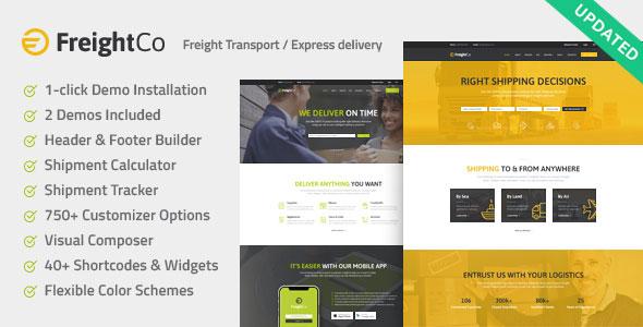 FreightCo v1.1 - Transportation & Warehousing Theme