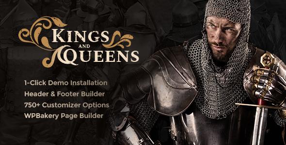 Kings & Queens v1.1 - Historical Reenactment WordPress Theme