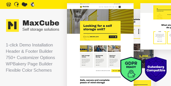 MaxCube v1.1 - Self Storage Business WordPress Theme