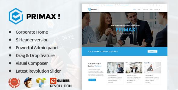 Primax v1.2 - Corporate Business WordPress Theme