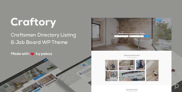 Craftory v1.2.0 - Directory Listing Job Board Theme