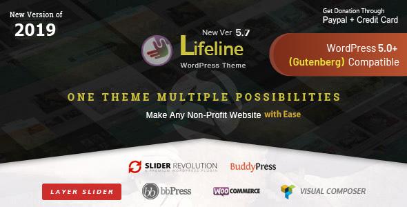 Lifeline v4.8.2 – NGO Charity Fund Raising WordPress Theme