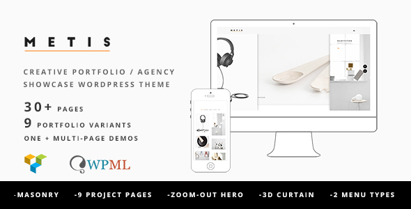 Metis v1.4.4 - Portfolio / Agency WordPress Theme