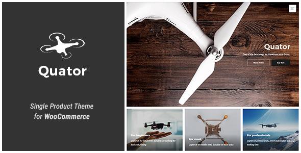 Quator v1.1.0 - Single Product WordPress Theme