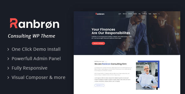 Ranbron v1.7 - Business and Consulting WordPress Theme