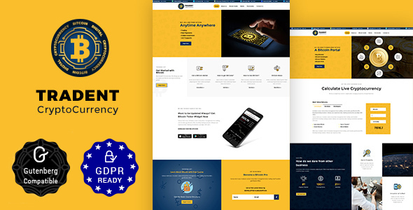 Tradent v1.3 - Bitcoin, Cryptocurrency Theme