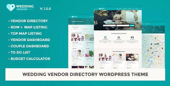 Wedding Vendor v1.2.0 - Vendor Directory WordPress Theme