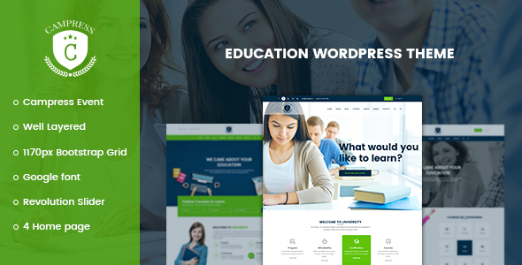 Campress v1.5 - Responsive Education, Courses and Events