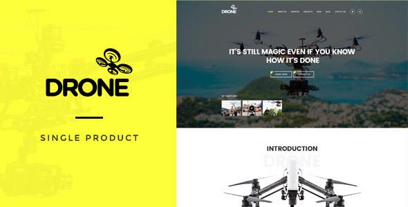 Drone v1.10 - Single Product WordPress Theme