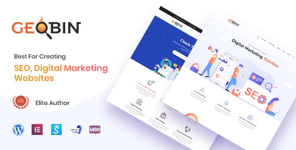 GeoBin   Digital Marketing Agency, SEO WordPress Theme