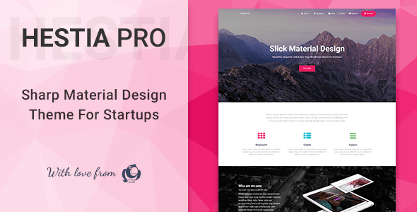 Hestia Pro v2.4.0 - Sharp Material Design Theme For Startups