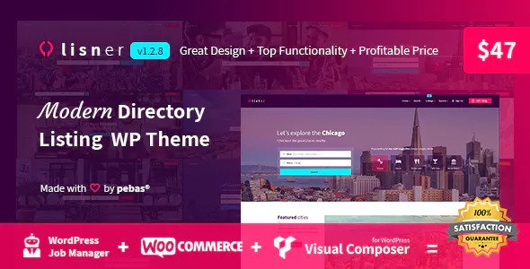 Lisner v1.2.8 - Modern Directory Listing WordPress Theme