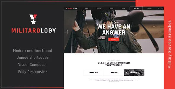 Militarology v1.0.1 - Military Service WordPress Theme