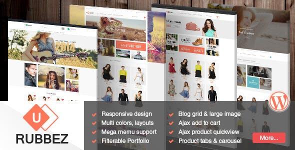 Rubbez v1.8.1 - WooCommerce & Corporate WordPress Theme