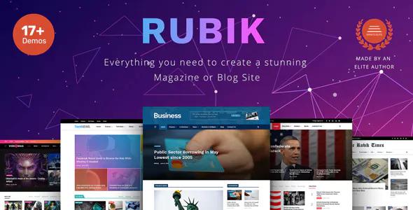 Rubik v1.2 - A Perfect Theme for Blog Magazine Website