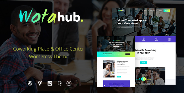 WotaHub v1.0.3 - Coworking Space WordPress Theme