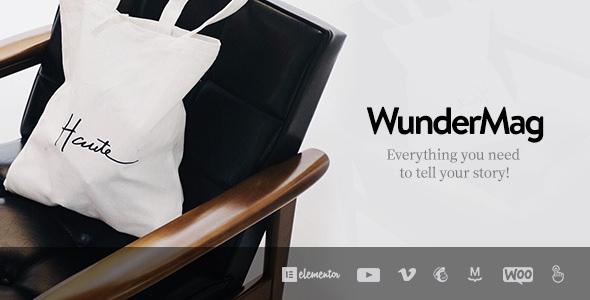 WunderMag v2.6.2 - A WordPress Blog / Magazine Theme