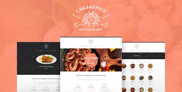 Crab & Spice v1.3.1 - Restaurant and Cafe WordPress Theme
