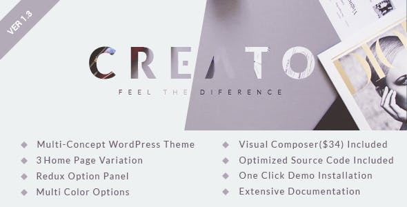 Creato v1.3 - Parallax WordPress Theme