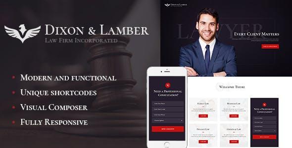 Dixon & Lamber v1.1 - Law Firm WordPress Theme