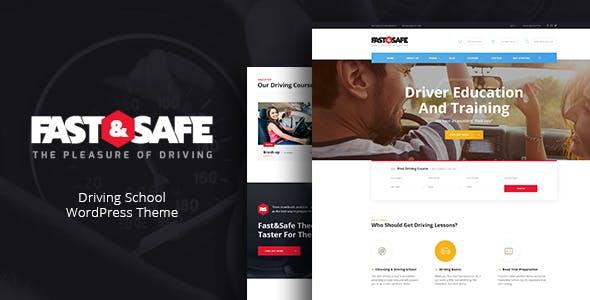 Fast & Safe v1.2 - Driving School WordPress Theme