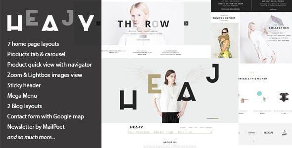Heajy v1.3.2 - Handmade Fashion WordPress Theme